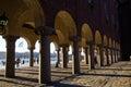 Columns at Stockholm City Hall Royalty Free Stock Photo