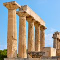 Columns of Temple of Aphaea in Aegina Royalty Free Stock Photo
