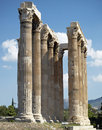 Columns, temple of Olympian Zeus Stock Photo