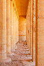 Columns in the temple of queen hatshepsut egypt Royalty Free Stock Photo