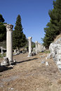 Columns in The Tetragonos Agora Royalty Free Stock Photography