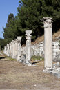 Columns in The Tetragonos Agora Royalty Free Stock Images