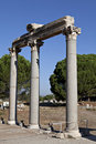 Columns in The Tetragonos Agora Royalty Free Stock Photo
