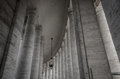 Columns at the vatican Royalty Free Stock Photo