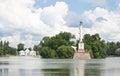 Coluna e pavilhão de Chesme. St Petersburg, Rússia Imagem de Stock