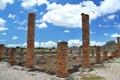 Colunas do tijolo nas ruínas romanas Imagens de Stock Royalty Free