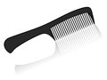 Comb black on a white background Royalty Free Stock Photo