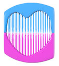 Comb gift China Idea plastic Royalty Free Stock Photo