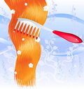 Comb and red hair Stock Photography