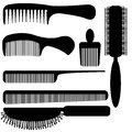 Comb silhouette  vector Royalty Free Stock Photo