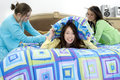 Combat d'oreiller Photo stock