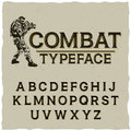 Combat Typeface Poster