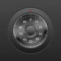 Combination lock background Stock Image