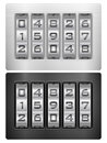 Combination lock icon Stock Image
