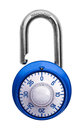 Combination Lock Open Royalty Free Stock Photo