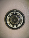 Combination Lock on Safe Royalty Free Stock Photo