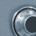 Combination lock on the safe Royalty Free Stock Photo