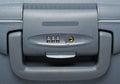 Combination lock on suitcase Royalty Free Stock Photo