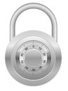 Combination padlock vector illustration Stock Image