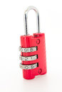 Combination red lock Royalty Free Stock Photo