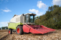 Combine on a field harvester Stock Image