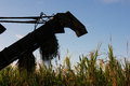 Combine former sugar cane harvester in a field in cuba Stock Photos