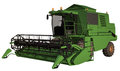 Combine harvester d render of a green Royalty Free Stock Photos