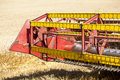 Combine harvester in field wheat corn Royalty Free Stock Image