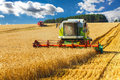 Combine harvester working on a wheat field Stock Photography