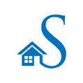 Combines house and the letter S,  abstract houses. illustration in vector format Royalty Free Stock Photo