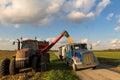 Combining Corn Royalty Free Stock Photo