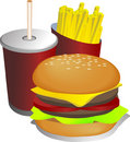 Combo meal illustration Royalty Free Stock Photography