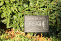 Come in and Breathe Sign Royalty Free Stock Photo