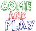 Come and play sign - vector Royalty Free Stock Photo