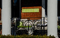 Come sit on my porch of house monument avenue in richmond virginia usa Royalty Free Stock Photo