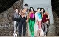 Comedia Del Arte Clowns Royalty Free Stock Photo