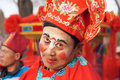 Comedian the close up of of the spring festival temple fair in taiyuan shanxi china Royalty Free Stock Images