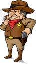 Comedic Cowboy Royalty Free Stock Photo