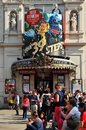 Comedy london uk august spectators queue in front of the criterion theatre famous theatre in london Stock Photography