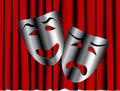 Comedy and tragedy theater masks Royalty Free Stock Images