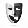 Comedy and tragedy theatrical mask illustration Stock Image