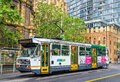 Comeng A1 Class tram on La Trobe Street in Melbourne, Australia Royalty Free Stock Photo
