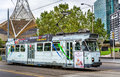 Comeng Z3 Class tram on St Kilda Road in Melbourne, Australia Royalty Free Stock Photo