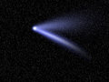 Comet HaleBopp in starry sky Royalty Free Stock Images