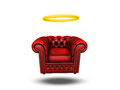 Comfort chair with halo on white Royalty Free Stock Photo