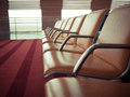Comfortable airport seats Royalty Free Stock Photo