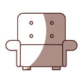 Comfortable sofa isolated icon