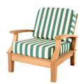 Comfortable wooden armchair Stock Image