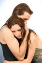 Comforting hug of young couple Royalty Free Stock Image