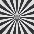 Black and white Sunburst pattern. Comic background. Vector illustration. Royalty Free Stock Photo